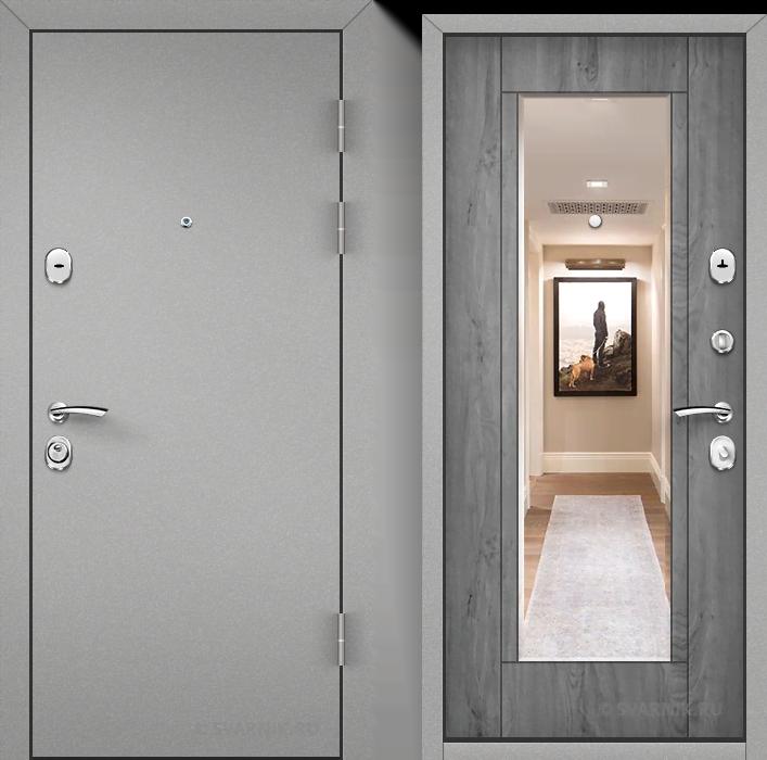 Дверь входная утепленная уличная порошковая - шпон