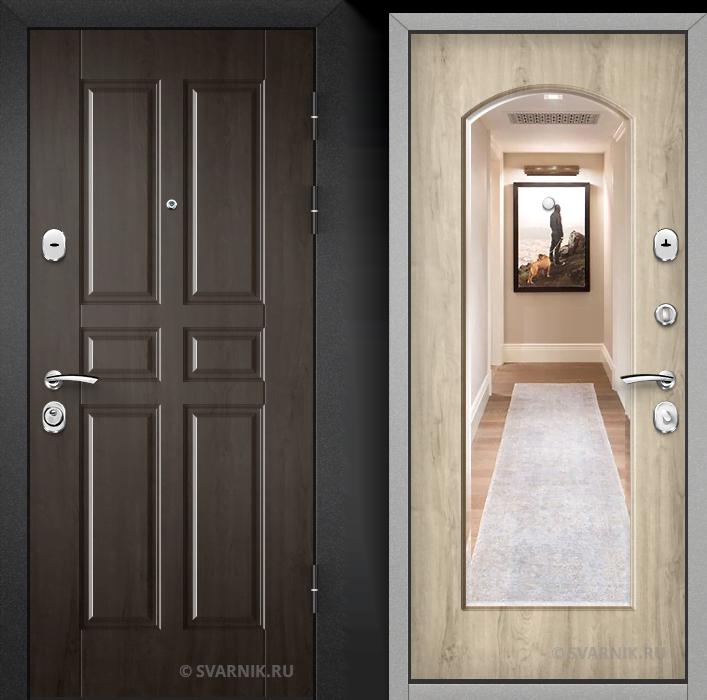 Дверь входная с зеркалом в офис массив - массив