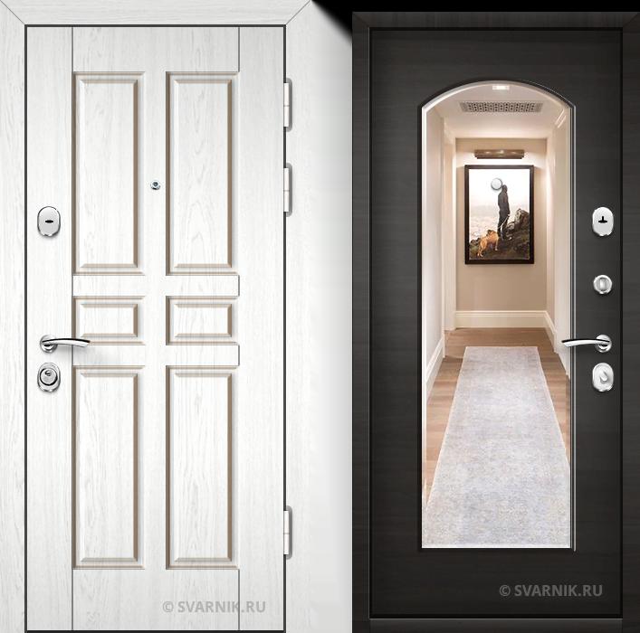 Дверь металлическая с зеркалом в офис винорит - винорит