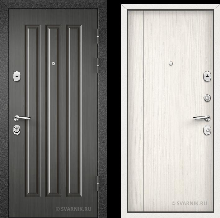 Дверь металлическая утепленная уличная шпон - шпон