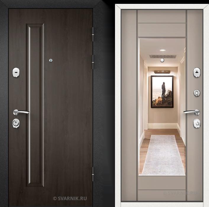 Дверь входная наружная в офис массив - МДФ