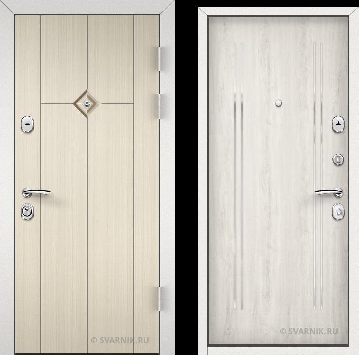 Дверь входная утепленная уличная винорит - ламинат