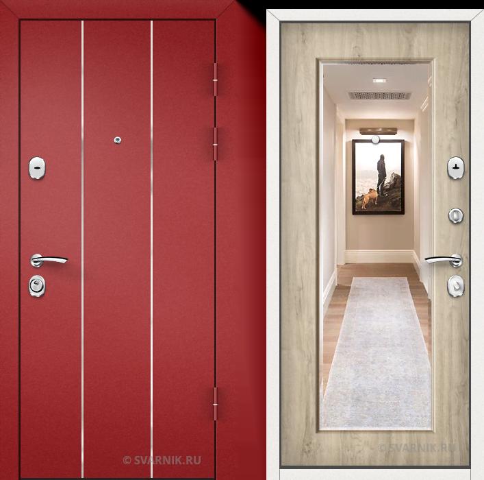 Дверь металлическая утепленная на дачу порошковая - массив