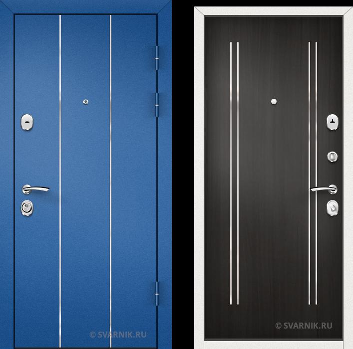 Дверь металлическая утепленная уличная порошковая - ламинат