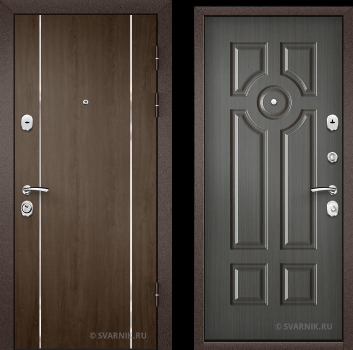 Дверь металлическая утепленная уличная ламинат - винорит