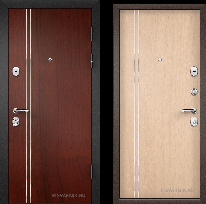 Дверь входная наружная на дачу ламинат - ламинат