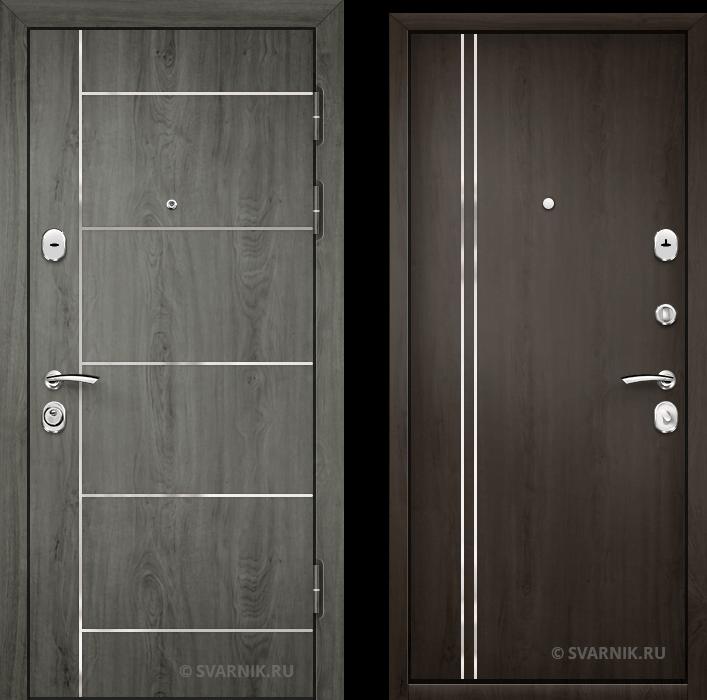 Дверь входная утепленная на дачу шпон - массив