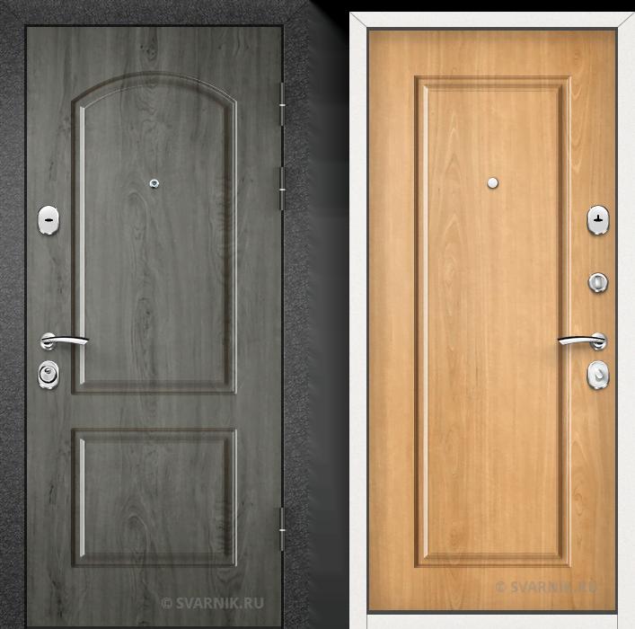Дверь металлическая утепленная на дачу МДФ - массив