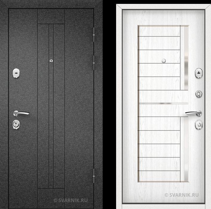Дверь входная утепленная на дачу порошковая - МДФ