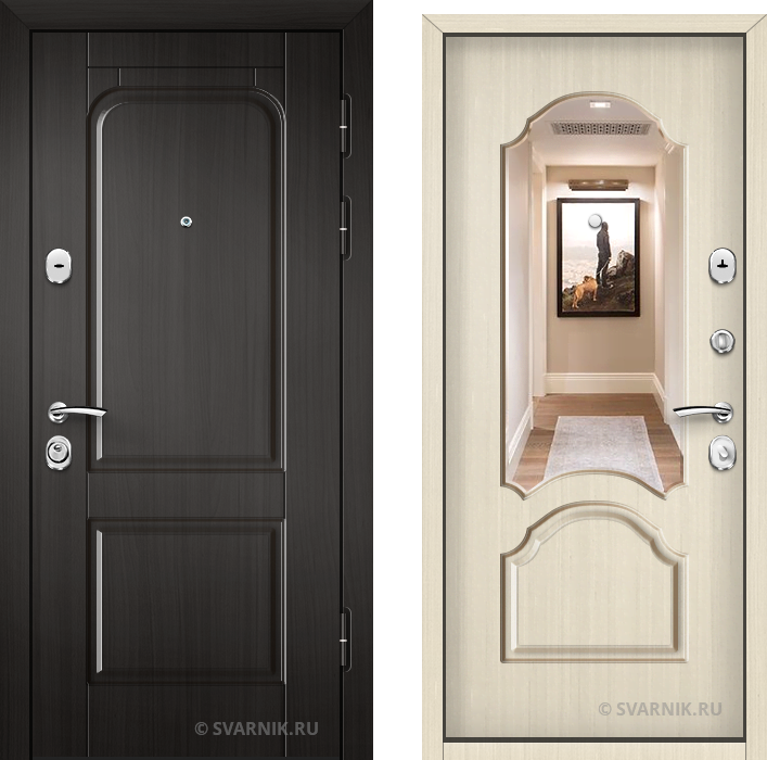Дверь металлическая наружная уличная МДФ - массив