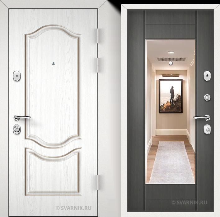 Дверь металлическая с зеркалом в офис МДФ - винорит