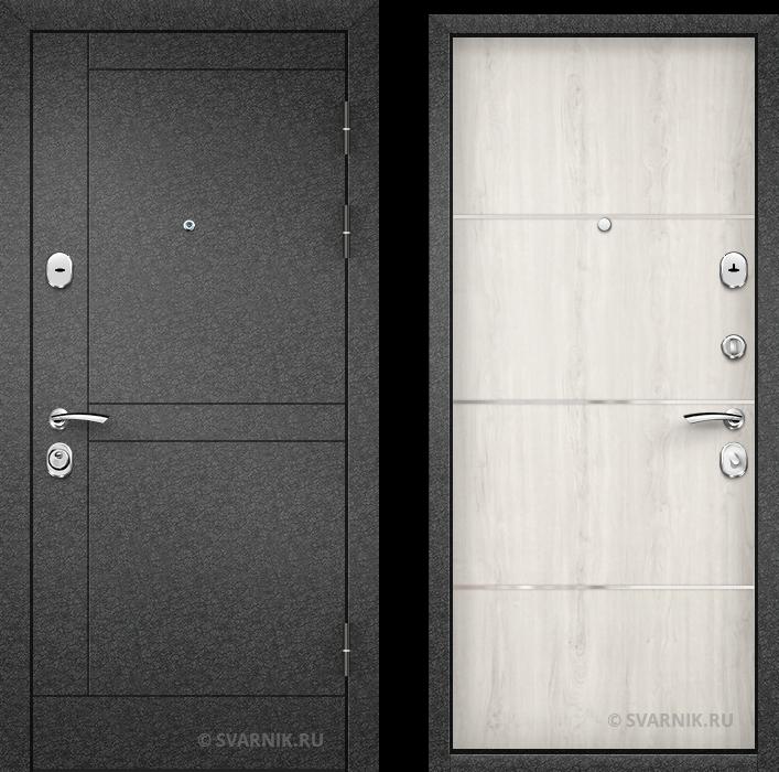 Дверь металлическая накладная в дом порошковая - ламинат