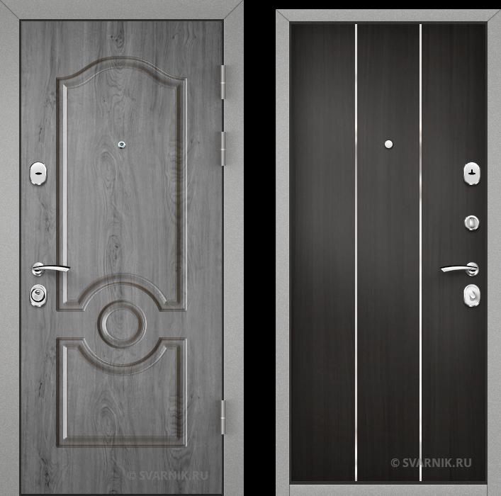 Дверь входная наружная в коттедж шпон - ламинат