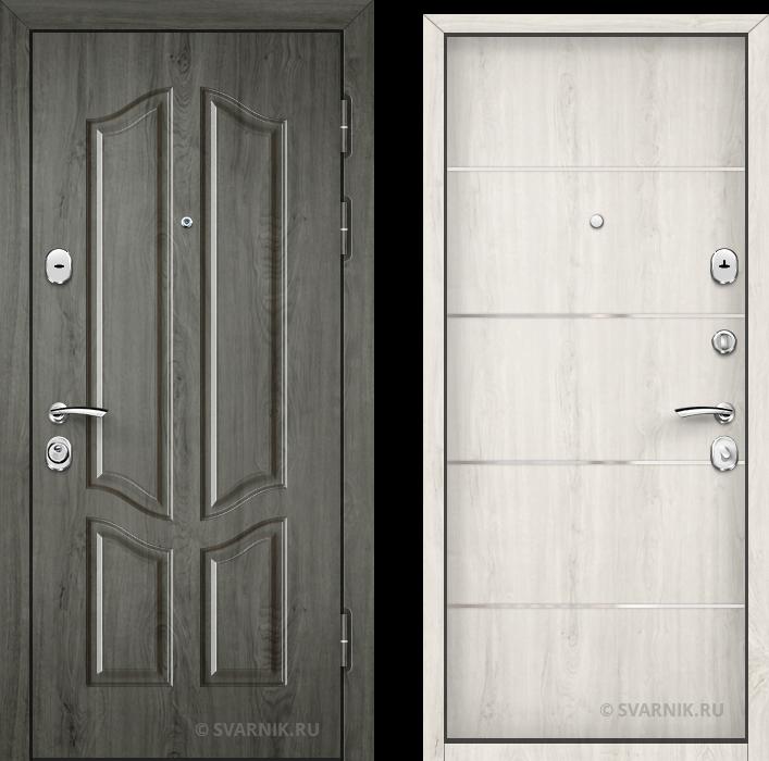 Дверь входная утепленная на дачу шпон - ламинат