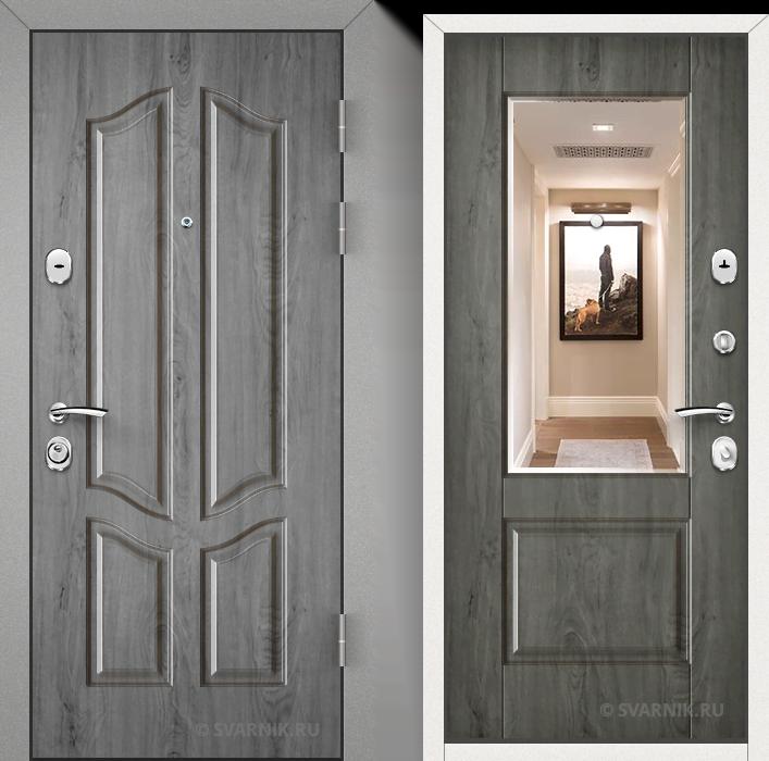 Дверь входная с зеркалом на дачу винорит - МДФ