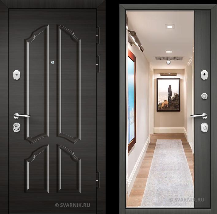 Дверь металлическая с зеркалом уличная массив - винорит