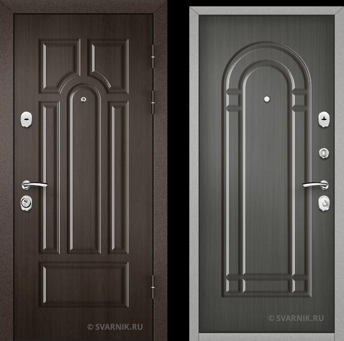 Дверь входная наружная в офис шпон - массив