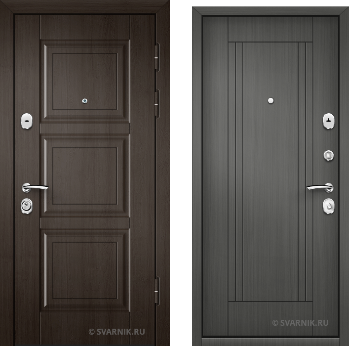 Дверь входная наружная в квартиру винорит - массив