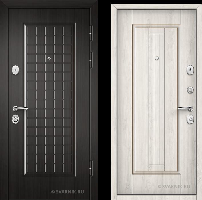 Дверь металлическая наружная в коттедж винорит - МДФ