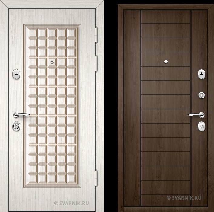 Дверь металлическая наружная в коттедж шпон - МДФ