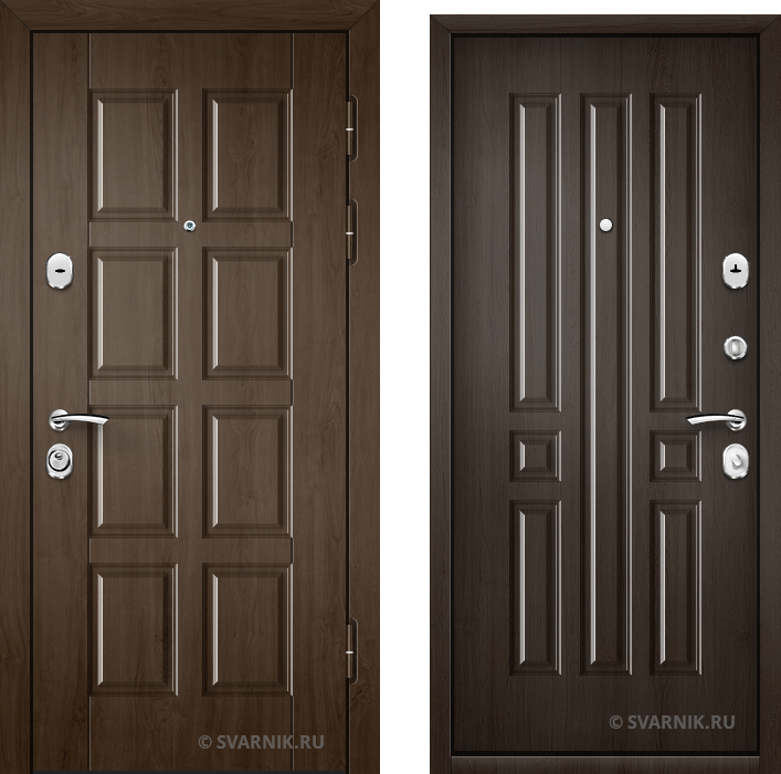Дверь входная наружная в дом МДФ - МДФ