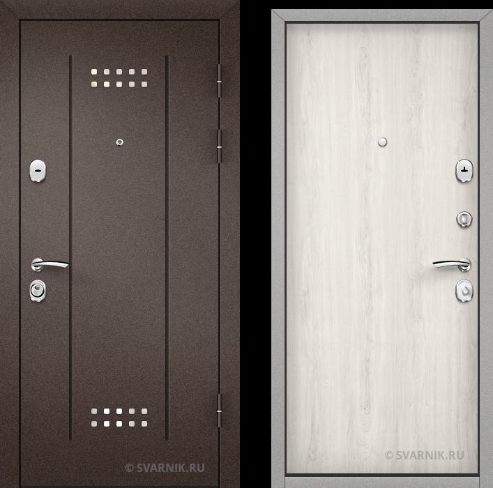 Дверь металлическая наружная уличная порошковая - ламинат