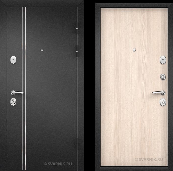 Дверь металлическая антивандальная на дачу порошковая - ламинат